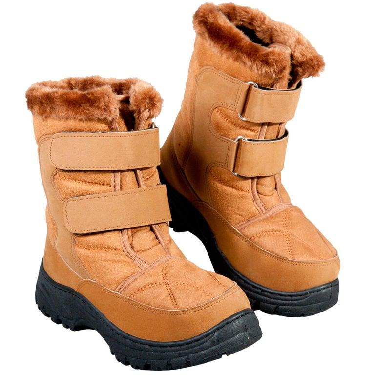 Zimní boty s hřejivým beránkem hnědé vel. 37