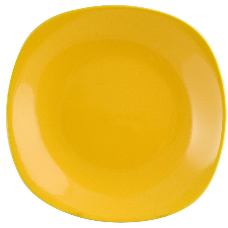 Hluboký talíř square 23 cm žlutý, BANQUET
