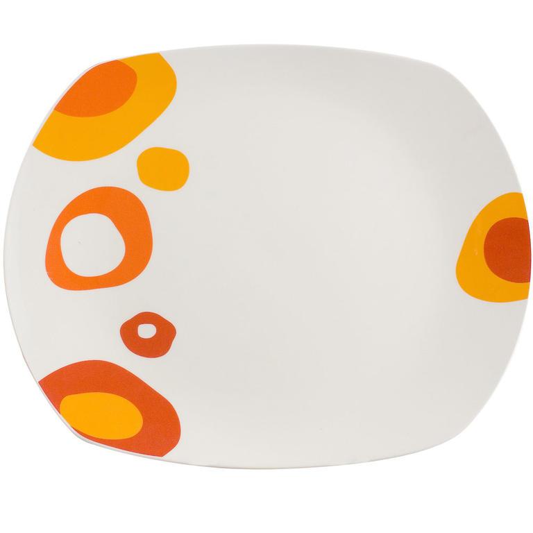 Servírovací talíř square 31 cm Red Bubble, BANQUET