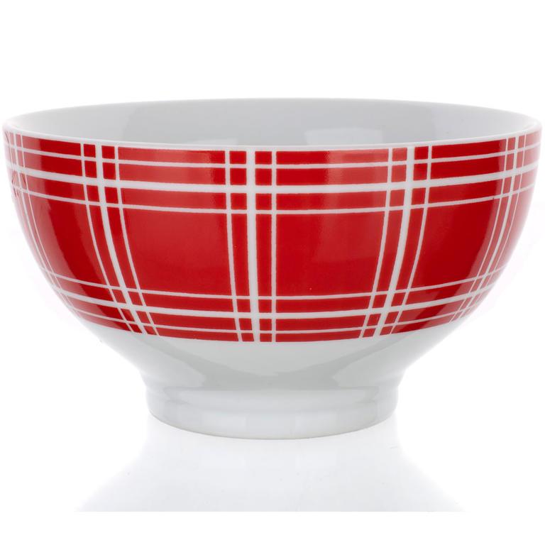 Keramická miska 13,9 cm červené Carré, BANQUET