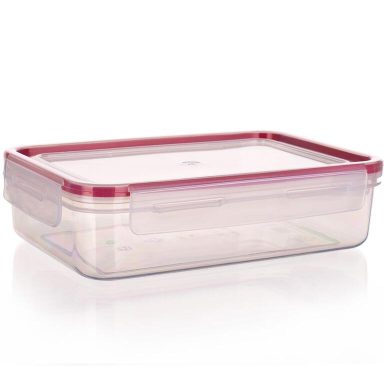 Obdélníková dóza na potraviny Super Click červená, BANQUET 1,1 l - 1