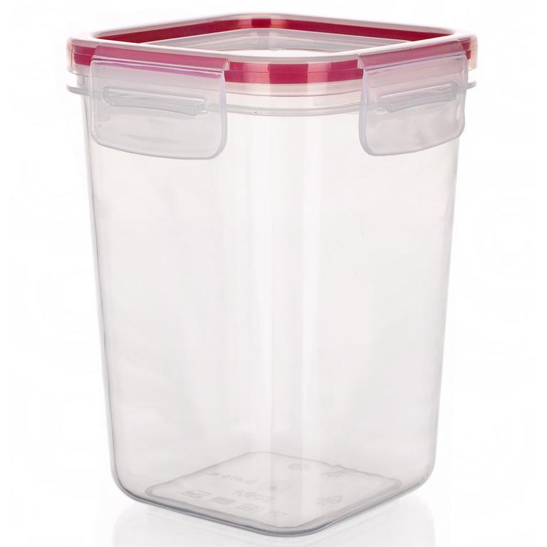 Plastová dóza na potraviny Super Click červená, BANQUET 0,87 l - 1