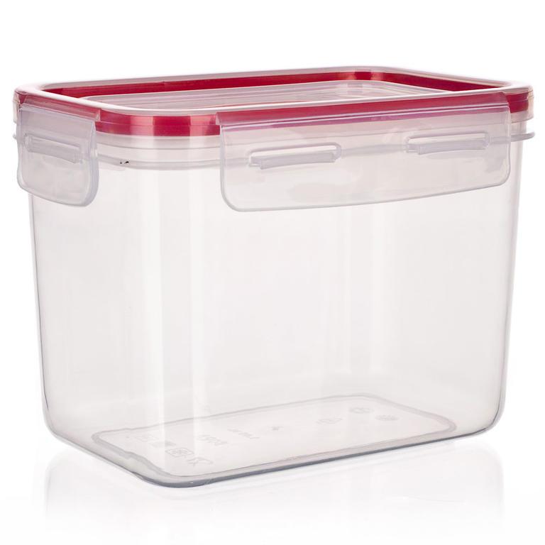 Plastová dóza na potraviny Super Click červená, BANQUET 1,05 l - 1