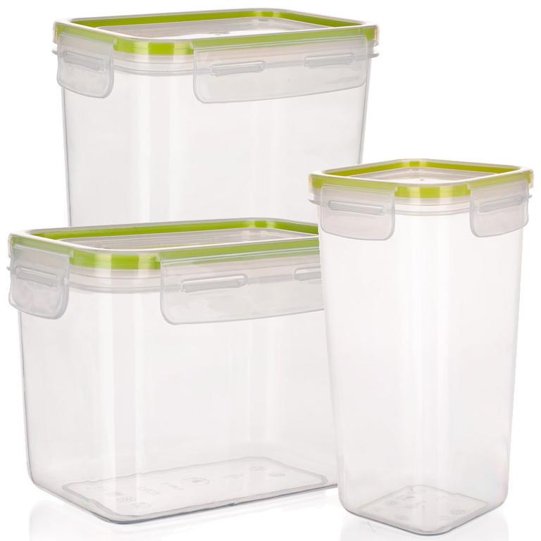 Plastová dóza na potraviny Super Click zelená, BANQUET  - 1