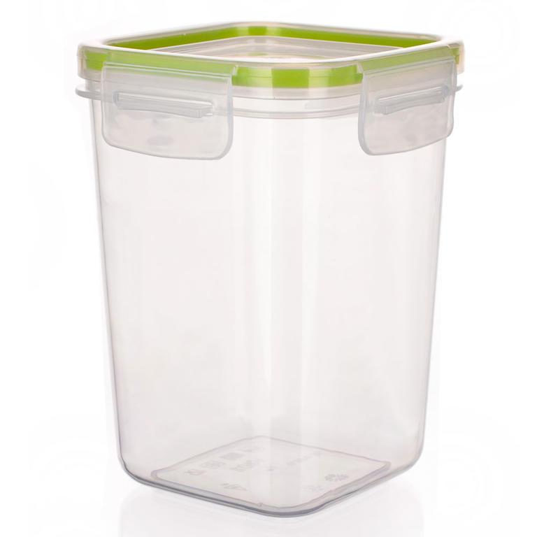 Plastová dóza na potraviny Super Click zelená, BANQUET 0,87 l - 1
