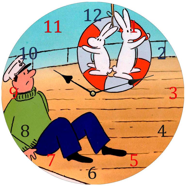Dětské nástěnné hodiny Bob a Bobek
