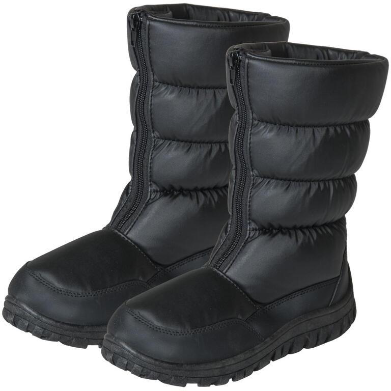 Dámské zimní boty se zipem černé  - 1