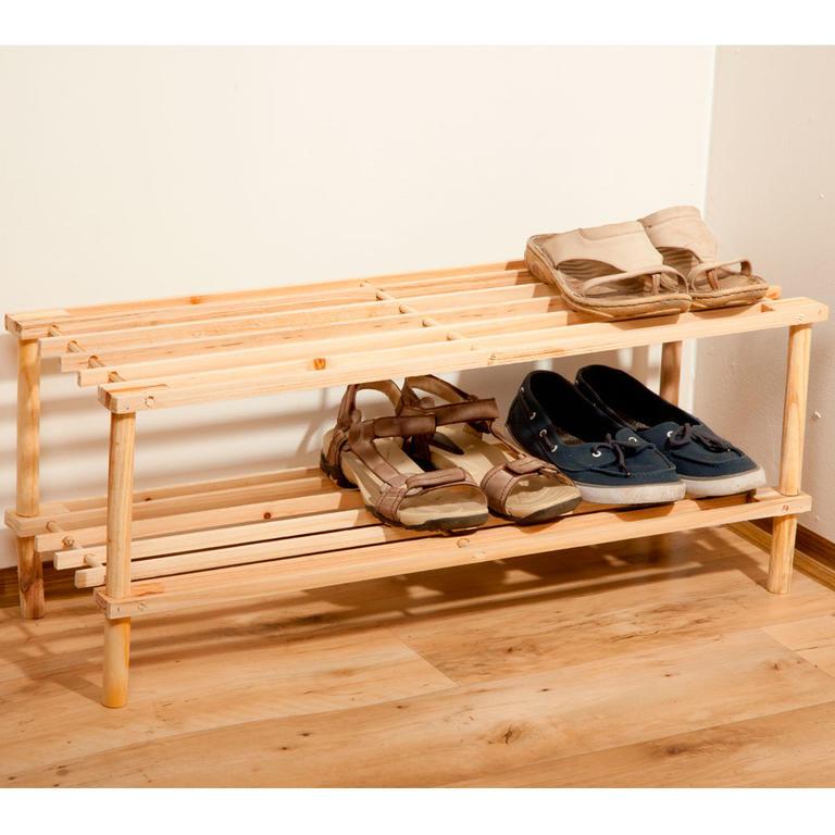 Dřevěný botník 2patrový