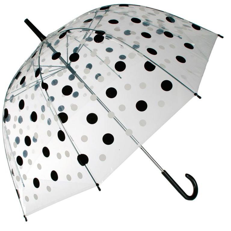 Dámský deštník průhledný s puntíky