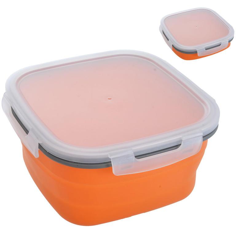 Skládací silikonová dóza na potraviny 19 x 19 x 9 cm - 1