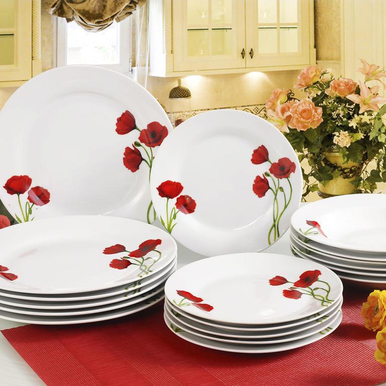 Banquet Porcelánová sada talířů POPPY 18 ks