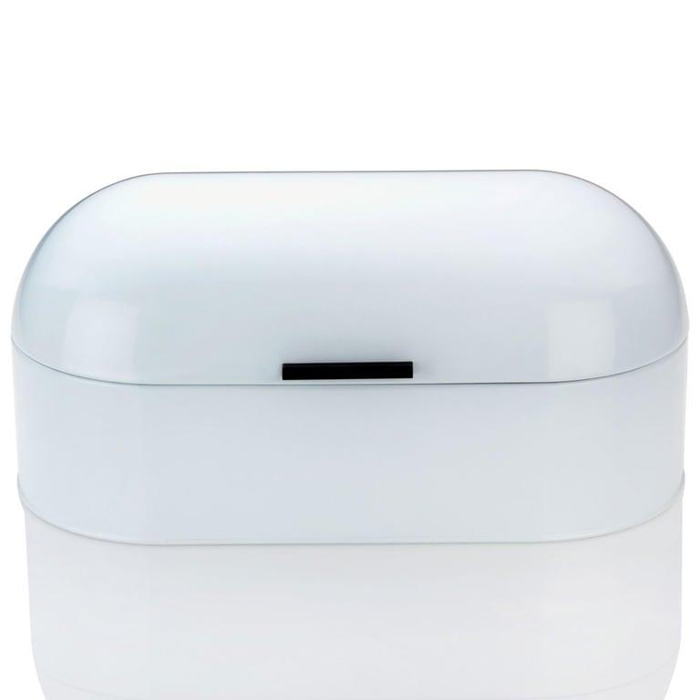 Kovový chlebník FRISCO bílý  - 1