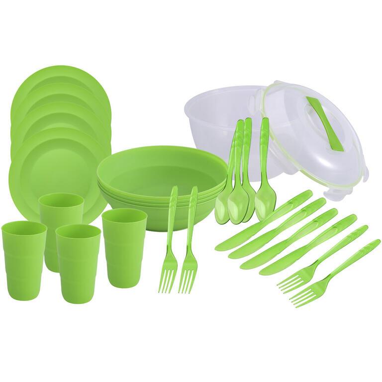 Piknikový set pro 4 osoby zelený