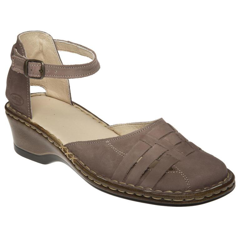 Dámské sandály s plnou špičkou cappuccino vel. 38
