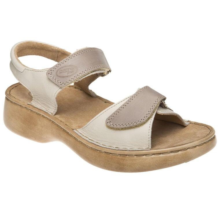 Dámské sandály béžové/šedé