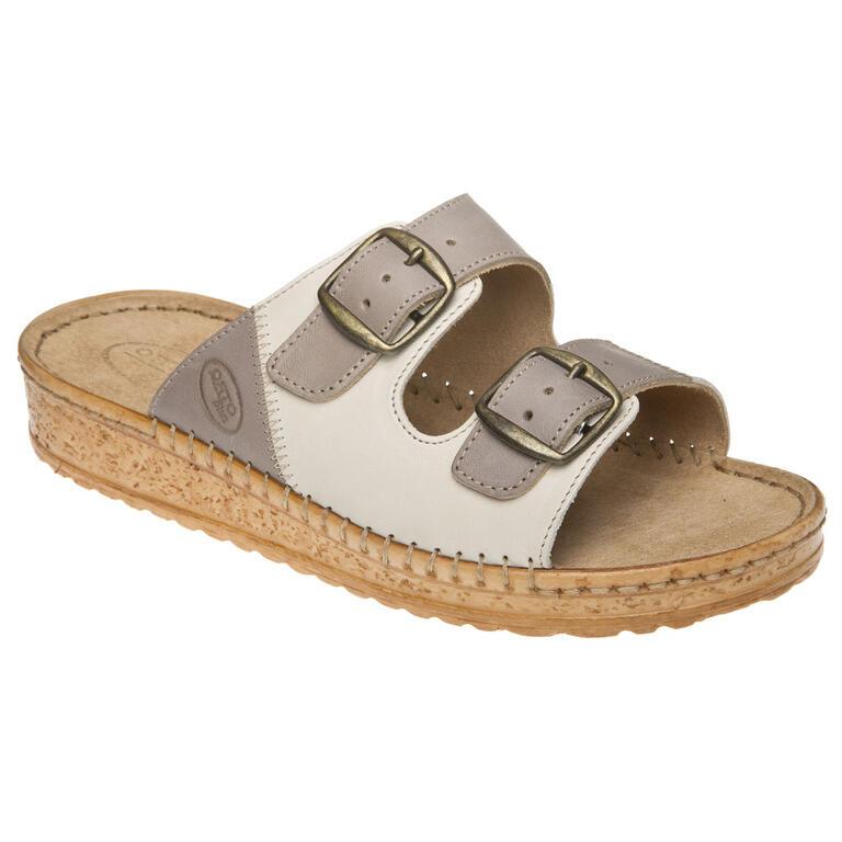 Univerzální pantofle béžové/šedé vel. 41