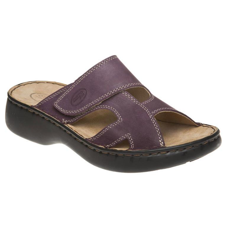 Dámské pantofle se suchým zipem fialové