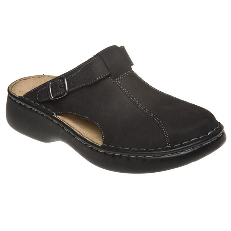 Dámské pantofle s plnou špičkou černé vel. 41