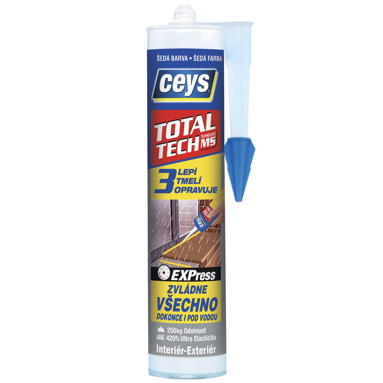 Stavební lepidlo a tmel Total Tech Express šedý 290 ml  - 1