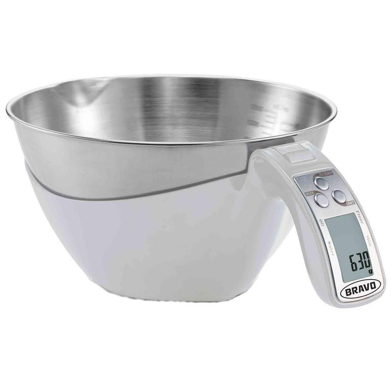 Kuchyňská váha s odměrkou BRAVO bílá