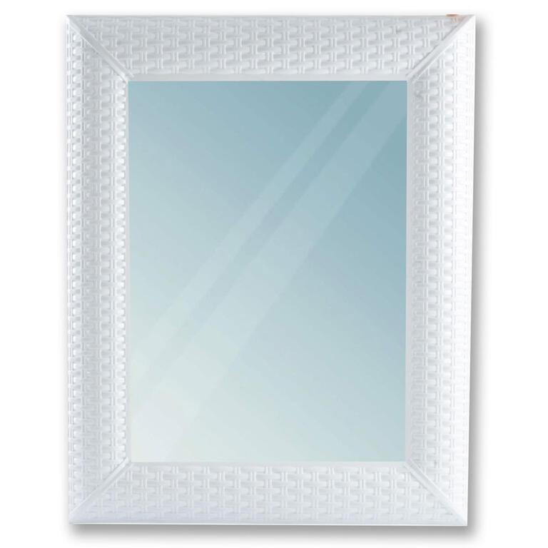 Obdélníkové zrcadlo RATAN bílé
