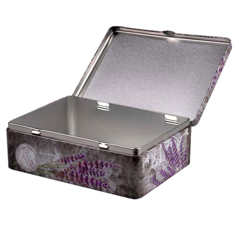 Plechový box Levandule 20 x 13 x 8 cm - 1