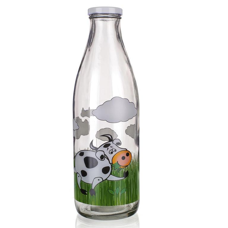Skleněná láhev na mléko 1l D5, BANQUET