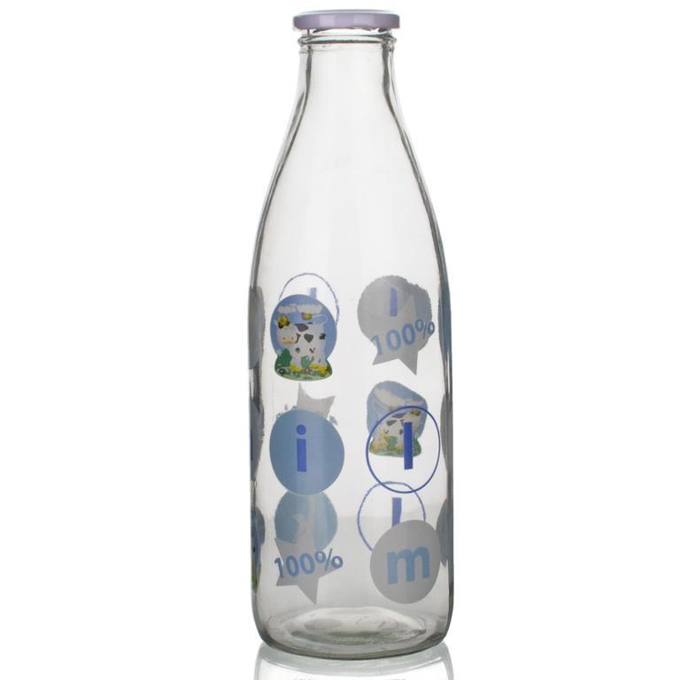 Skleněná láhev na mléko 1l D8, BANQUET