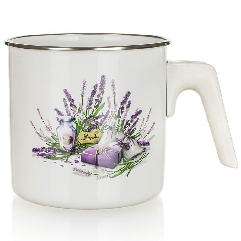 Smaltovaný mlékovar Lavender 1,2 l, BANQUET