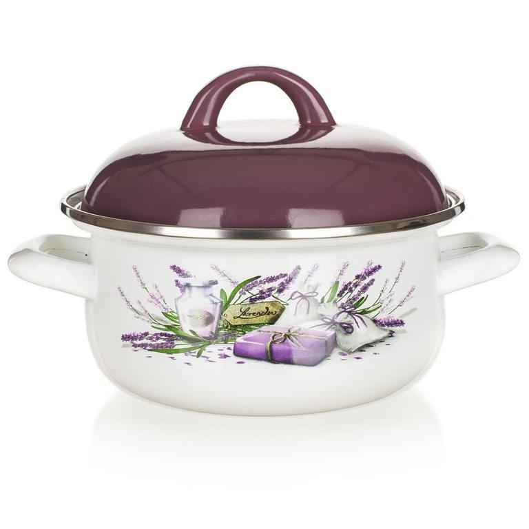 Smaltovaný kastrol Lavender, BANQUET 1,4 l - 1