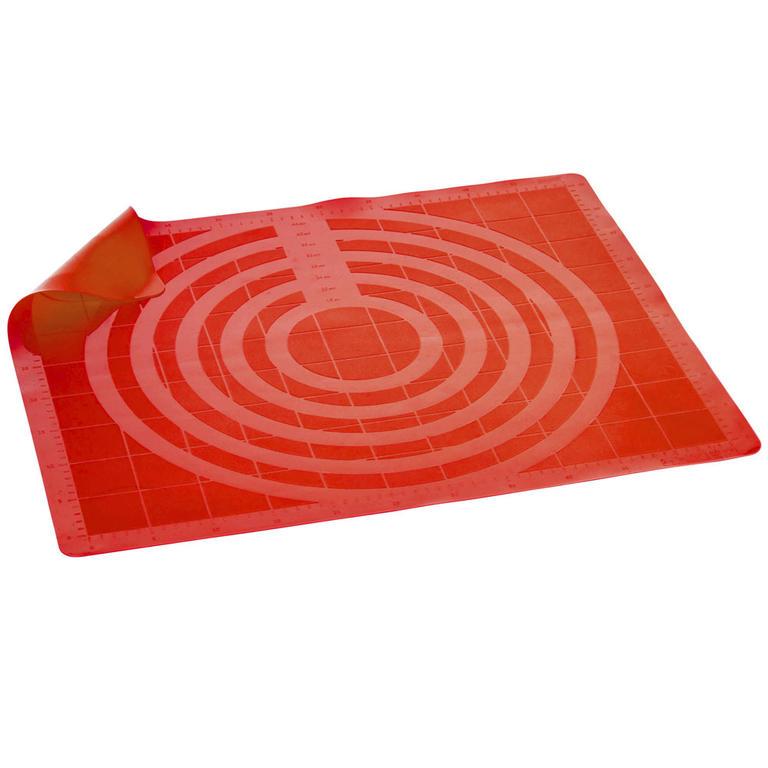 Silikonový vál s měřítkem Culinaria Red, BANQUET 60 x 50 cm