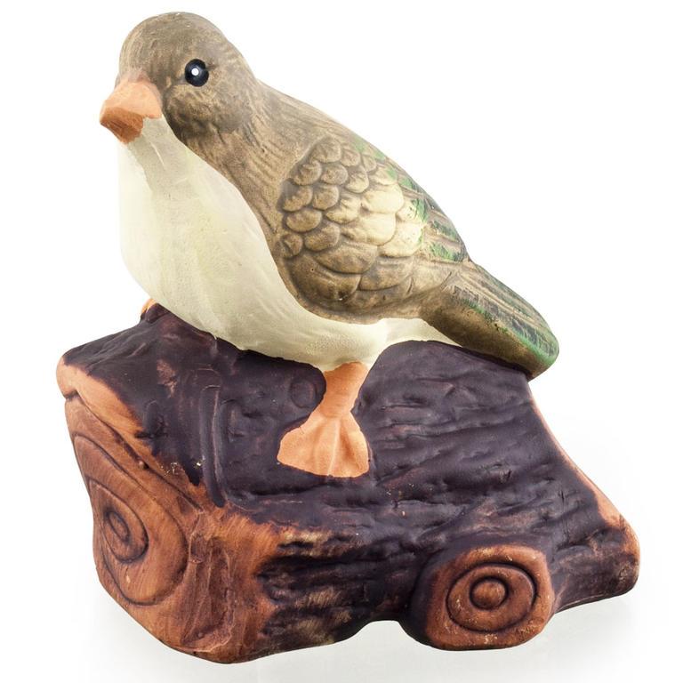 Zahradní dekorace - pták na dřívku