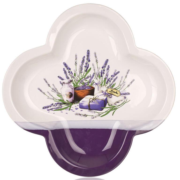 Servírovací mísa Lavender čtyřlístek 32 cm, BANQUET