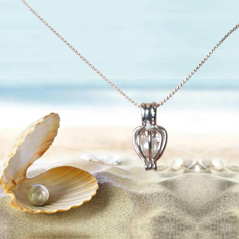 Dámský řetízek s přívěškem s pravou perlou - decoDoma a5d757b585