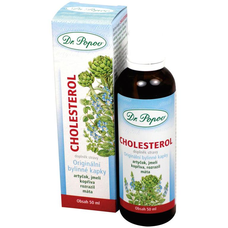 Bylinné kapky Cholesterol 50 ml, Dr. Popov