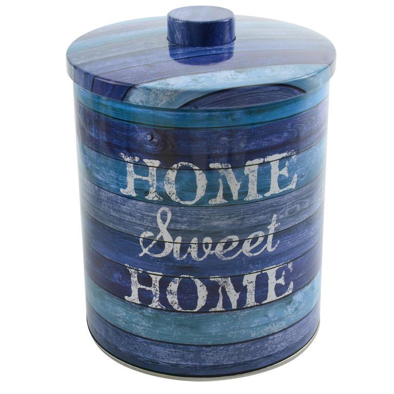 Plechová dóza na potraviny Sweet Home pr. 14 cm kulatá