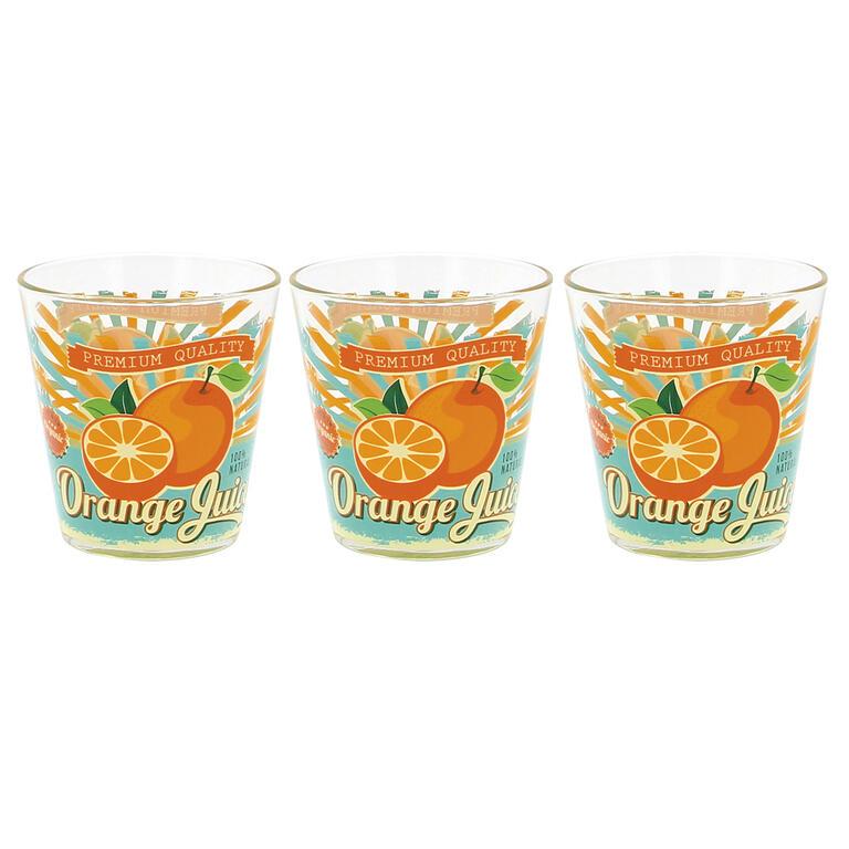 Sklenice Pomeranč 250 ml 3 ks
