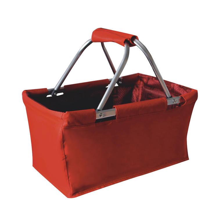 Nákupní skládací košík červený