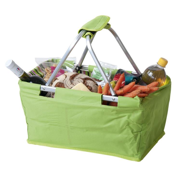 Nákupní skládací košík zelený