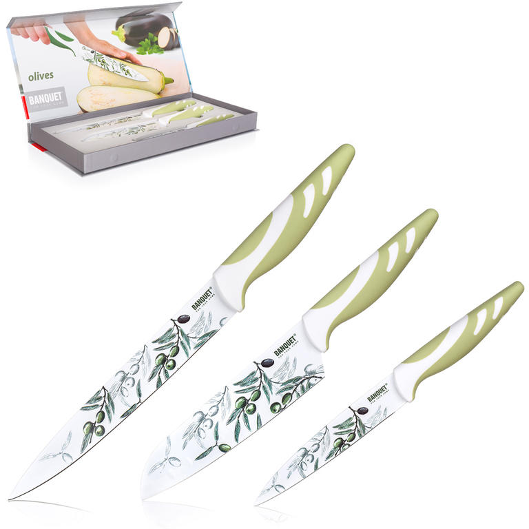 Banquet OLIVES Sada nožů s nepřilnavým povrchem 3 ks