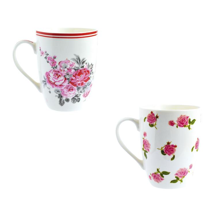 Porcelánový hrnek Růže 2 kusy