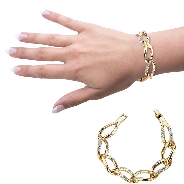 Náramek zlaté barvy s rakouskými krystaly