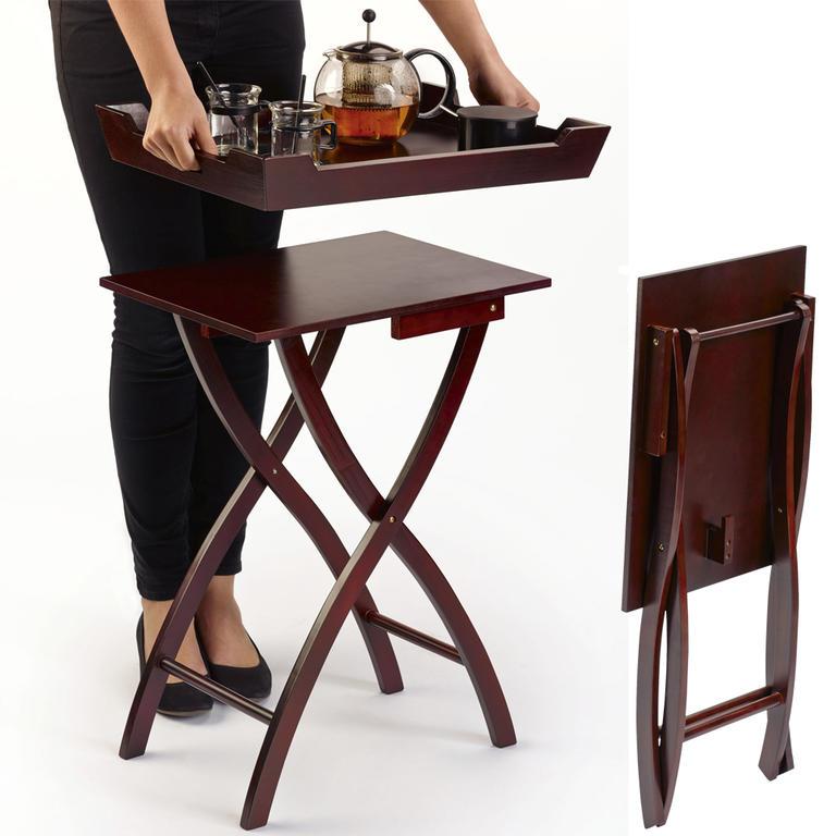 Dřevěný skládací stolek  - 1