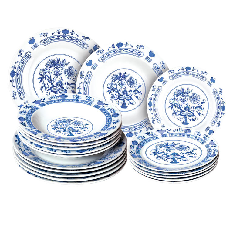 Porcelánová sada talířů ONION 18 dílů, BANQUET