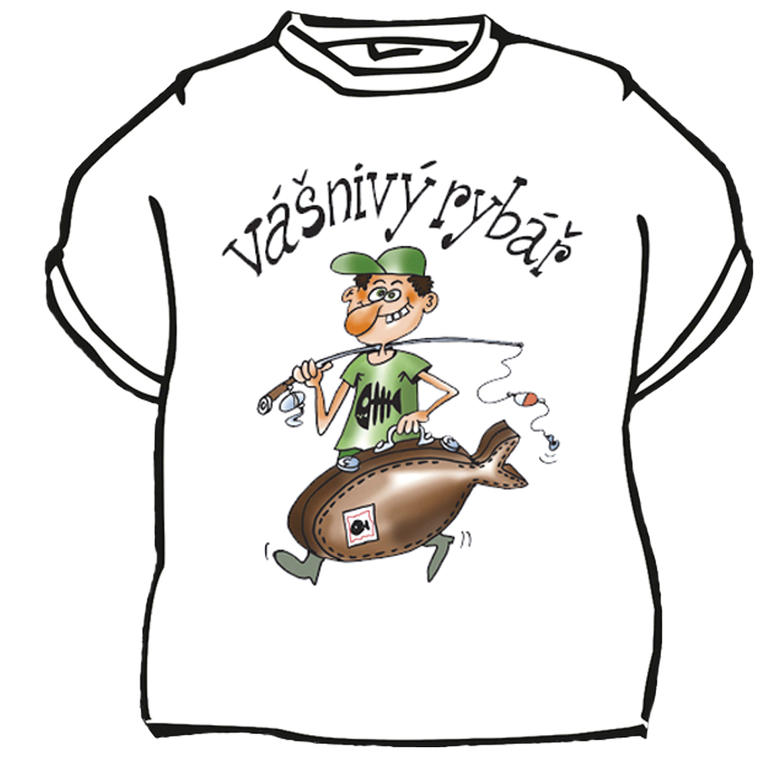 Tričko Vášnivý rybář vel. 2XL