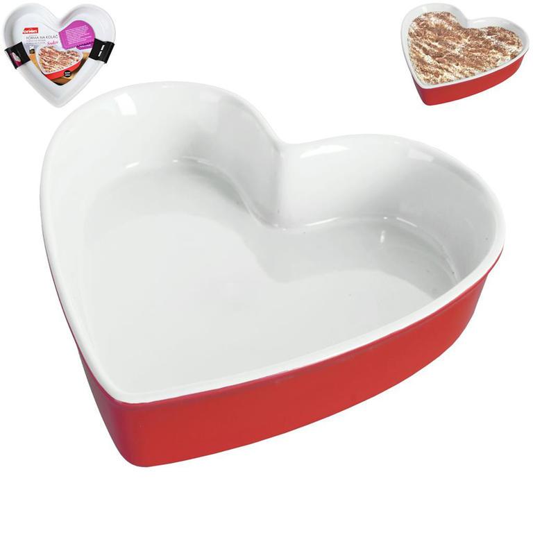 Keramická forma na koláč Srdce