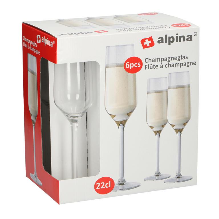 Sklenice na šampaňské ALPINA 6 ks