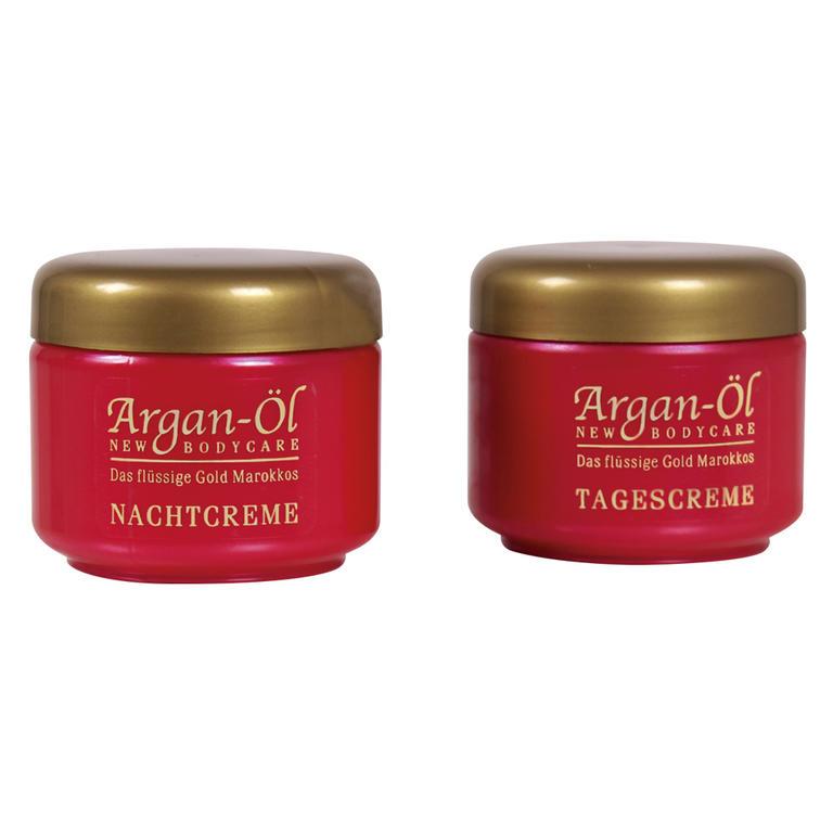 BIO-VITAL Set Argan Oil denný a nočný argánový krém proti vráskam 2 x 125 ml dárková sada