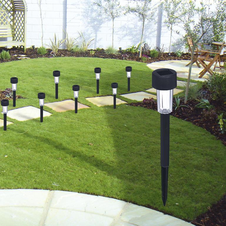 ACTIVER solární lampa kónická plastová - displej