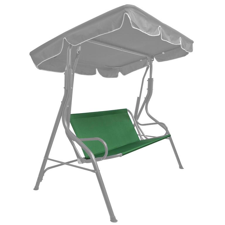 Sedák na houpačku textilní tmavě zelený